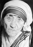 Mother Teresa by PortraitLc