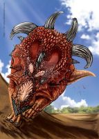 Pachyrhinosaurus by In-Sine