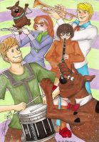 Scooby Doo Band by AsianFlower