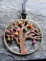 Fall Tree Necklace by MoonLitCreations