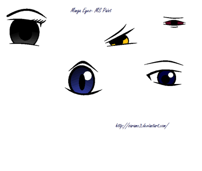 Manga Eyes-Part 2 by SaraMC3