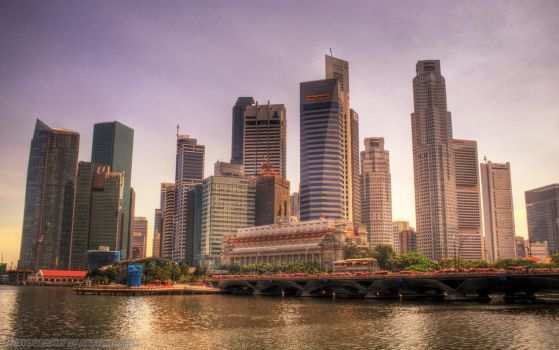 Singapore Skyline 2009 by abathingfish