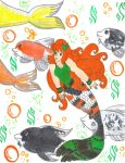 Mermaid Koilee Again With Several Koi by Winter-Colorful