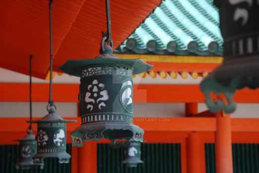 Lanterns in Kyoto by WireAddict