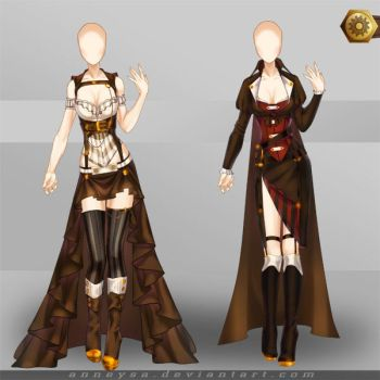[Closed]Adoptable Outfit (Steampunk 3-4) by Anneysa