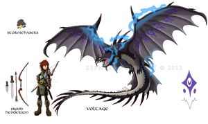 HTTYD Charas: Sigrid Henderson and Voltage by Zephyros-Phoenix