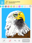 Draw Something: Eagle by shyfaerie