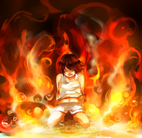 Fire to your rain - Fire close up by Calvariae