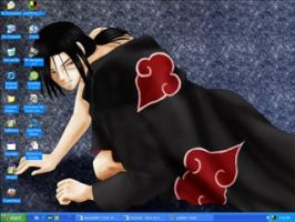 It's Itachi at my computer by northernlight33