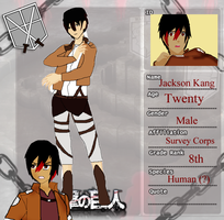 Attack on Titan Profile: Jackson by ChaoticDarkAngel