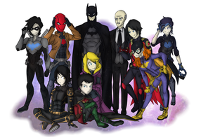 The Bat Family by SolidifyArt