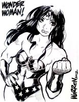 WONDER WOMAN sketch, from FanExpo by AdamWarren