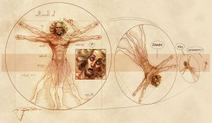 The Vitruvian Man by Loopydave