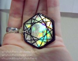 Holographic Hexagon Pendant now for sale! by whyholothere