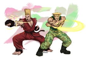 Paul x Guile by Seeso2D