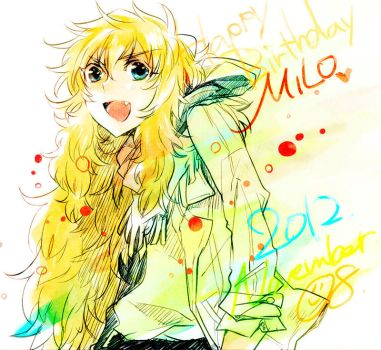 Happy Birthday Milo! by ang-era