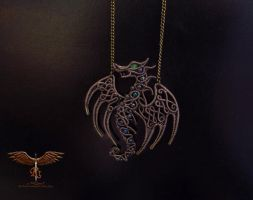 Dragon pendant by alina-loreley