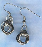 flower chain earrings by Craftcove