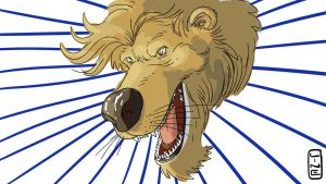 Random Lines Turned Into a Lion For Video Log by LineDetail