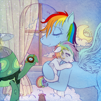 Rainbow Dash White Whirl and Tank 3 by tinuleaf