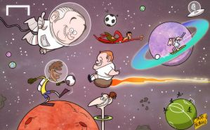 Blatter predicts interplanetary footbal by OmarMomani