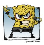 Sponge Bob Re-imagined by Stuart McGhee by stuartmcghee