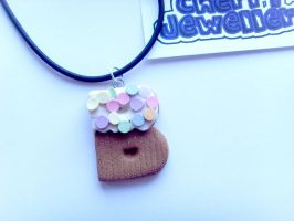 B Cupcake Letter Necklace by tyney123