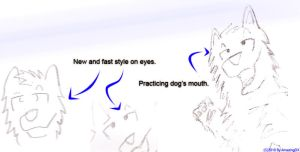 New style -very fast- sketches by AmazingDX