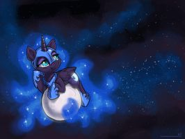 On the Mooooooon by KP-ShadowSquirrel