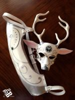 Leather Artemis Deer Mask and Lunar Quiver Set by b3designsllc