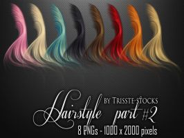 Hairstyle part #2 by Trisste-stocks