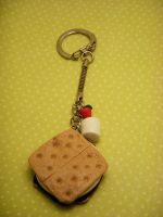 Want S'More? -- Keychain by poketheyolk