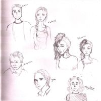 Hunger games sketches by TheNorthMint