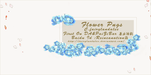 BLUE FLOWER PNGS by Fairylandalse