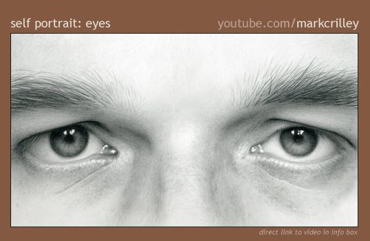 Pencil Self Portrait: Eyes by markcrilley
