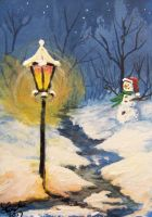 ACEO Winters Night by annieoakley64