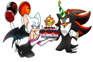 HBD Shadow and Rouge!! by Natsumi-Nyan