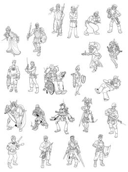 Characters by jimmymcwicked