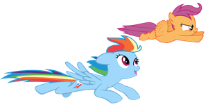 Scootaloo and Rainbow by Scootaloo24