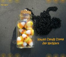 Kawaii candy corns jar by Bojo-Bijoux