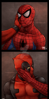 Spideypool - Hands by muepin