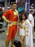 Captain Marvel And Mary Marvel by mjac1971