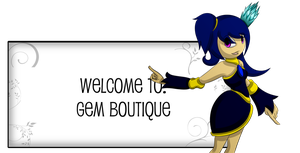 Gem Boutique Banner by AnimalCreation