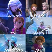 Elsa and Anna - Some People... by AngelTrueSpirit