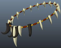 Tribal Necklace from Autodesk Maya by DaBrandonSphere