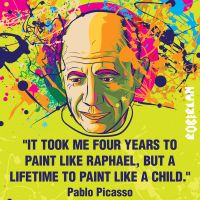 Picasso Quote by roberlan