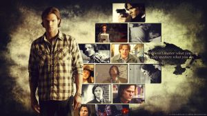 Supernatural Wallpaper - Sam Winchester by Sidhrat