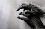 Painted hands 2 by joanlondono