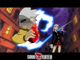 Soul and Maka by ktownjeff