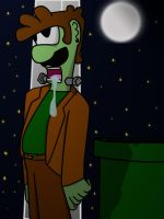 Luigi-stein under the moon by Rivux